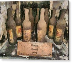 Find Vintage White Wine Pamid 1974 Acrylic Print