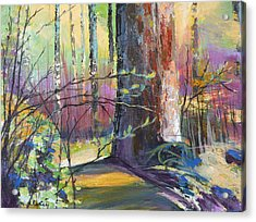 Finding The Forest Acrylic Print by Melody Cleary