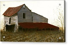 Fine Art Oil Painting North Carolina Barn Acrylic Print