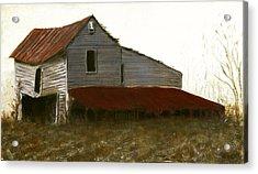 Fine Art Oil Painting North Carolina Barn Acrylic Print