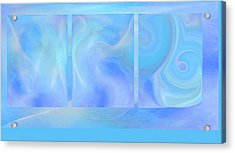 Fine Art Original Digital Abstract Untitled1bb4 As Blue Acrylic Print