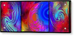 Fine Art Painting Original Digital Abstract Warp 3 Acrylic Print