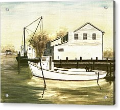 Fine Art Traditional Oil Painting Solomons Island Acrylic Print