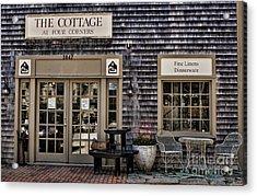 Fine Shopping In Tiverton Acrylic Print by Nancy De Flon