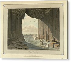 Fingal's Cave Acrylic Print by British Library