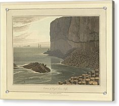 Fingal's Cave On Staffa Acrylic Print by British Library
