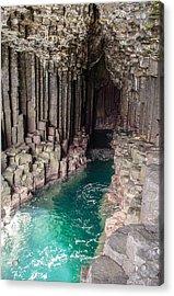 Fingal's Cave Acrylic Print by Sergey Simanovsky