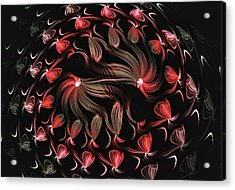 Acrylic Print featuring the digital art Finger Painted Fractal by Lea Wiggins