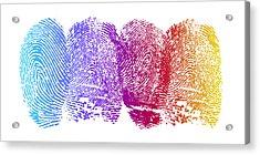 Finger Prints Acrylic Print