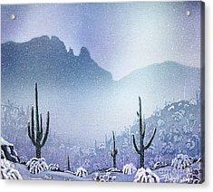 Finger Rock Snowfall Acrylic Print