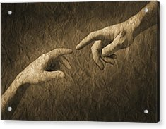 Fingers Almost Touching Acrylic Print by Don Hammond