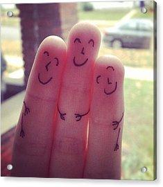 Fingers Hug Acrylic Print