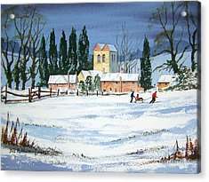 Fingest Village England  Acrylic Print by Bill Holkham
