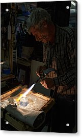 Acrylic Print featuring the photograph Finishing Touches  by Paul Indigo