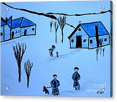 Acrylic Print featuring the drawing Finland by Bill OConnor