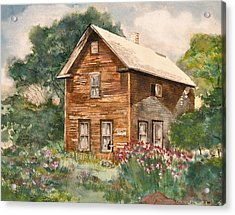 Acrylic Print featuring the painting Finlayson Old House by Susan Crossman Buscho