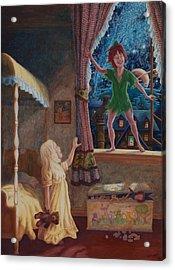 Acrylic Print featuring the painting Finn Meets Peter by Matt Konar