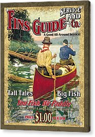 Fins Guide Service Acrylic Print by JQ Licensing