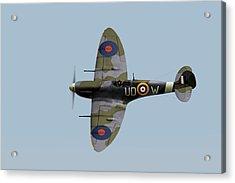 Finucane's Spitfire Acrylic Print by Gary Eason