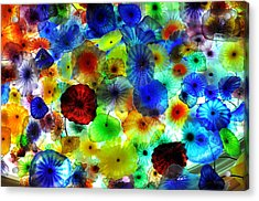 Fiori Di Como By Glass Sculptor Acrylic Print by Gandz Photography
