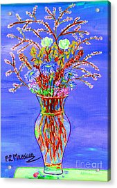 Acrylic Print featuring the painting Fiori by Loredana Messina