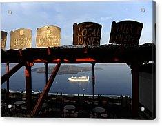 Acrylic Print featuring the photograph Fira Santorini Greece by John Jacquemain
