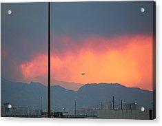 Fire Above Vegas Acrylic Print