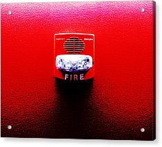 Fire Alarm Strobe Acrylic Print