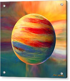 Fire And Ice Ball  Acrylic Print by Robin Moline