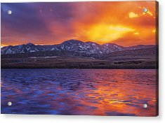 Fire And Ice Acrylic Print by Darren  White