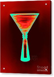 Fire And Ice Martini Acrylic Print