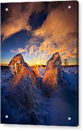 Fire And Ice Acrylic Print by Phil Koch