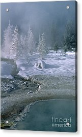Fire And Ice - Yellowstone National Park Acrylic Print by Sandra Bronstein