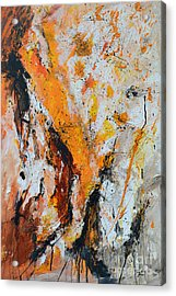 Fire And Passion - Abstract Acrylic Print by Ismeta Gruenwald
