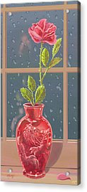Acrylic Print featuring the mixed media Fire And Rain by J L Meadows