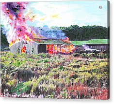 Fire At Whitney Beef Acrylic Print