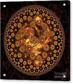 Fire Ball Filigree  Acrylic Print by Elizabeth McTaggart