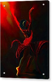 Fire Bender Acrylic Print by Howard Barry