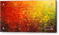 Acrylic Print featuring the painting Fire Born Moods by Tatiana Iliina