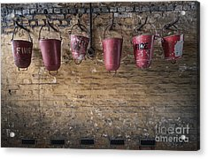 Fire Buckets Acrylic Print by Svetlana Sewell
