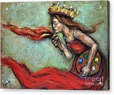 Fire Acrylic Print by Carrie Joy Byrnes