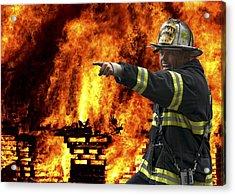 Fire Chief On The Scene Acrylic Print by Daniel Hagerman