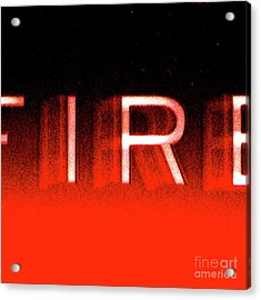 Fire Acrylic Print by CML Brown