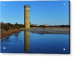 Fire Control Tower 3 Icy Reflection Acrylic Print