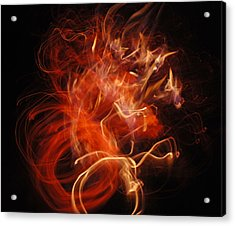 Fire Creature  Acrylic Print by Kjirsten Collier