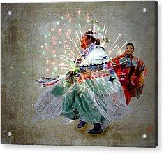 fire Dance Acrylic Print by Irma BACKELANT GALLERIES
