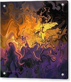 Acrylic Print featuring the digital art Fire Dance by Linda Whiteside