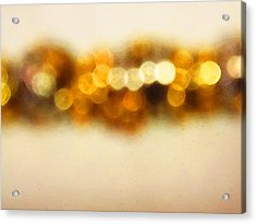 Fire Dance - Warm Sparkling Abstract Art Acrylic Print