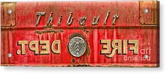 Fire Department Acrylic Print