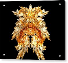 Acrylic Print featuring the digital art Fire Dog by R Thomas Brass